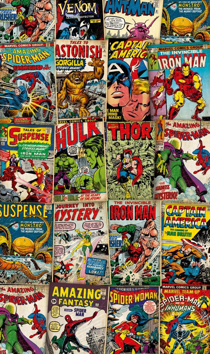 Marvel Cover Retro- Papier peint XXL Komar