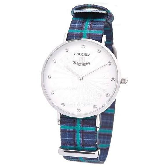 Watch with blue scottish band