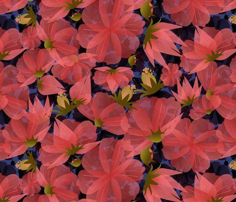 floral meadow dusk fabric by kociara on Spoonflower - custom fabric
