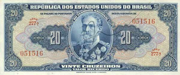 20 Крузейро (1943) Бразилия (Brazil) Южная Америка