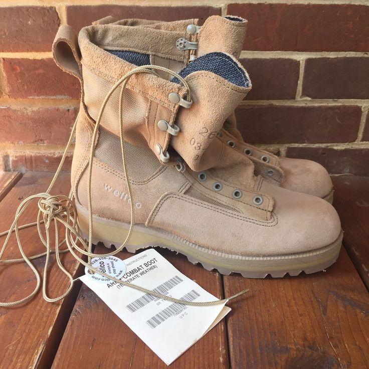 Wellco Boots 8R Combat Gore Tex Vibram Military Tan Temperate Hot Weather Type 2    eBay