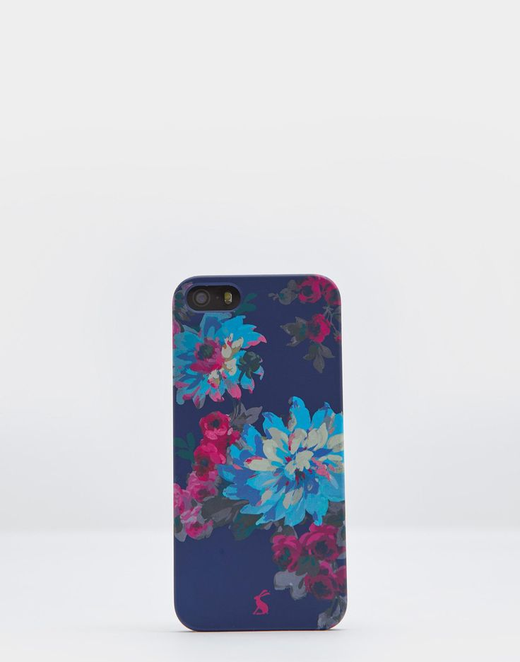 Iphone 5 French Navy Floral Case , Size One Size | Joules UK