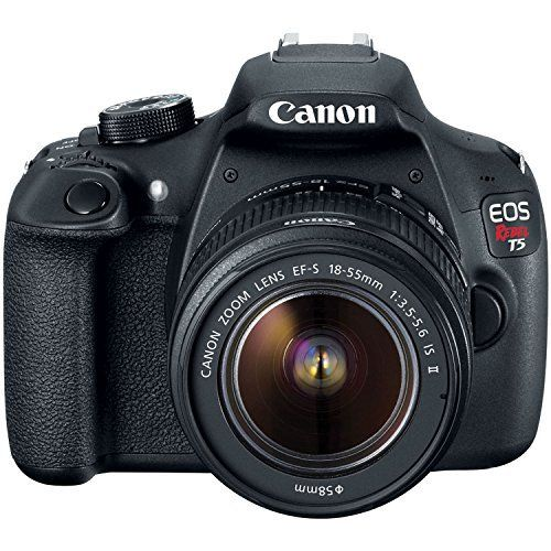 Canon EOS Rebel T5 : The Canon EOS Rebel T5 SLR camera with the EF-S 18-55mm IS II standard zoom lens is perfect for families, budding photo enthusiasts