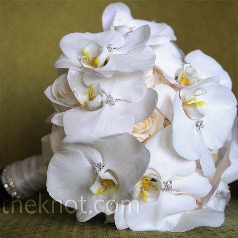 bridal bouquet: Bridal Bouquets, Roses Bouquets, Orchids, Bride Bouquets, Weddings Bouquets, White Bouquets, Beaches Weddings, Bridesmaid Bouquets, Flower