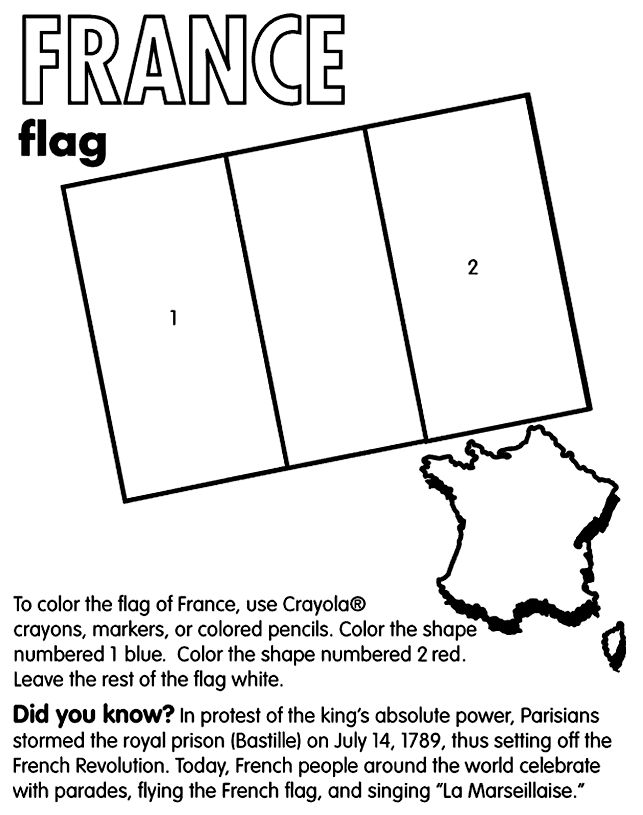 France Colouring Pages | france coloring 2 643×815