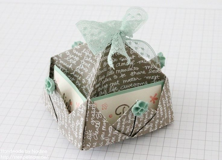 Stampin Up Anleitung Tutorial Box Goodie Give Away Schachtel Stempelmami Origami 109