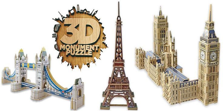 La vuelta al mundo con 3D Monument Puzzle de Educa