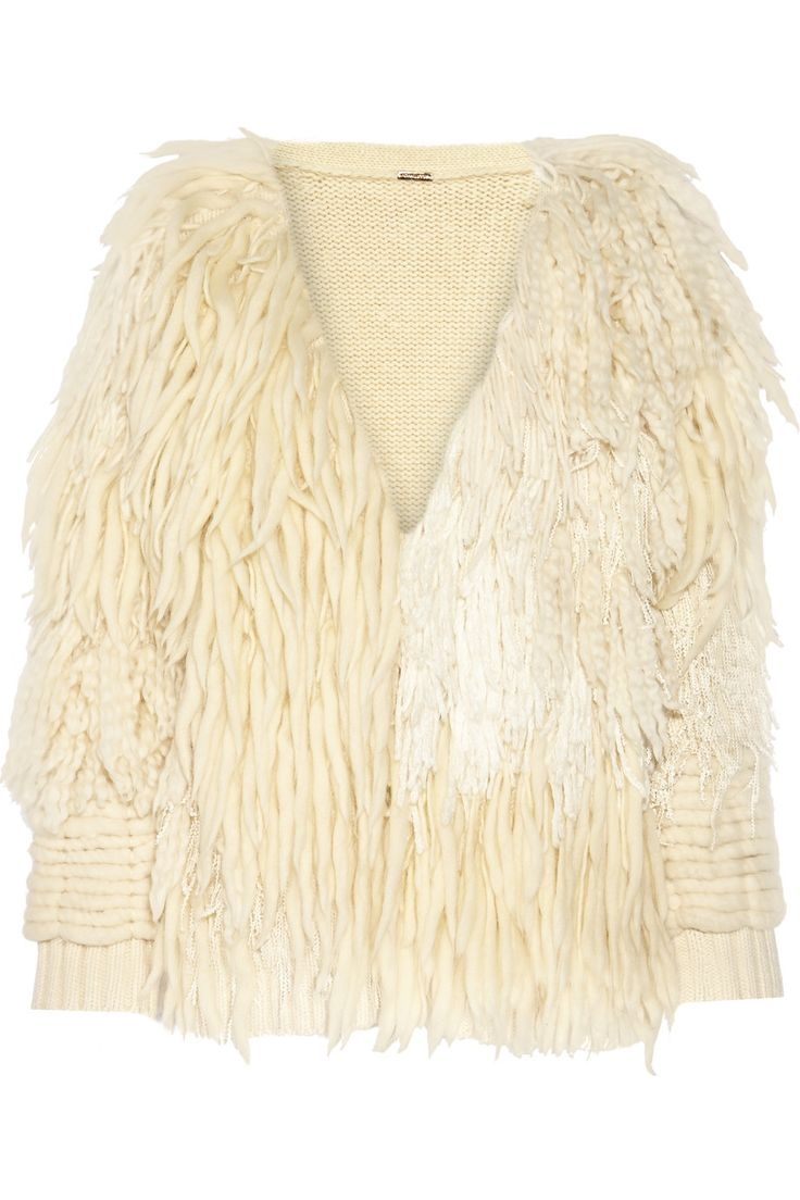 ADAM LIPPES FRINGED WOOL AND CASHMERE-BLEND CARDIGAN £801…