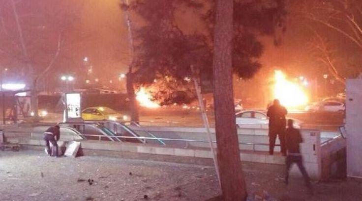 Μακελειό στην Τουρκία με πολλά θύματα . Εκρηξη στην Αγκυρα :  27 νεκροί από έκρηξη στην Άγκυρα (Ανανέωση 8:30)