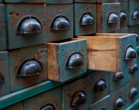Close Up Shot On An Apothecary Chest With Open Drawers Stock Photo, Picture And Royalty Free Image. Image 14233185.