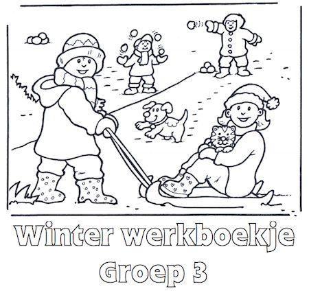 Winter Werkboekje Groep 3 - Klaarwerk.nl