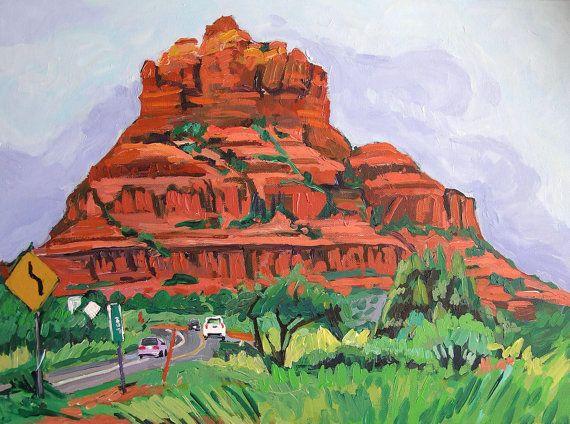 Southwestern Fine Art Print  8x10 Bell Rock Sedona by GwenMeyerson, $20.00