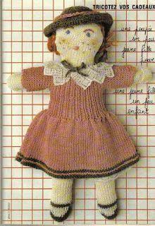 Isabelle Andréo Tricot: tuto poupée vintage                                                                                                                                                      Plus