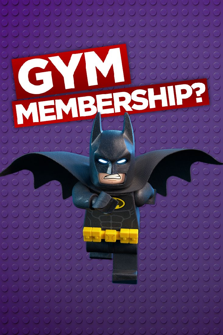 Don't join a gym. Just wear black. All the time. The LEGO Batman Movie in cinemas Feb 10.