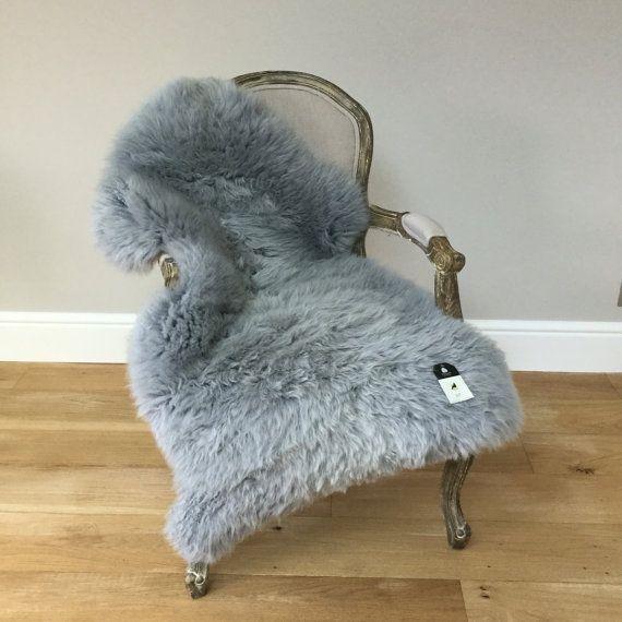 Silver Grey gray Sheepskin Rug luxurious genuine beautifully soft eco rug by Swedishdalahorse #TrendingEtsy