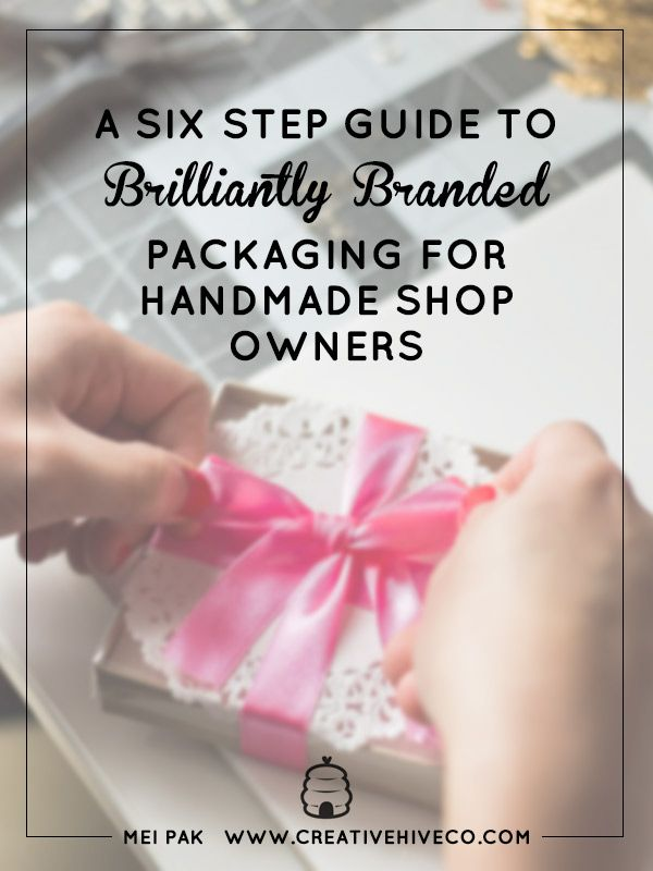 Creating branded packaging for your handmade shop can totally level up your shop! Check out this six step guide on how to start branding your packaging.