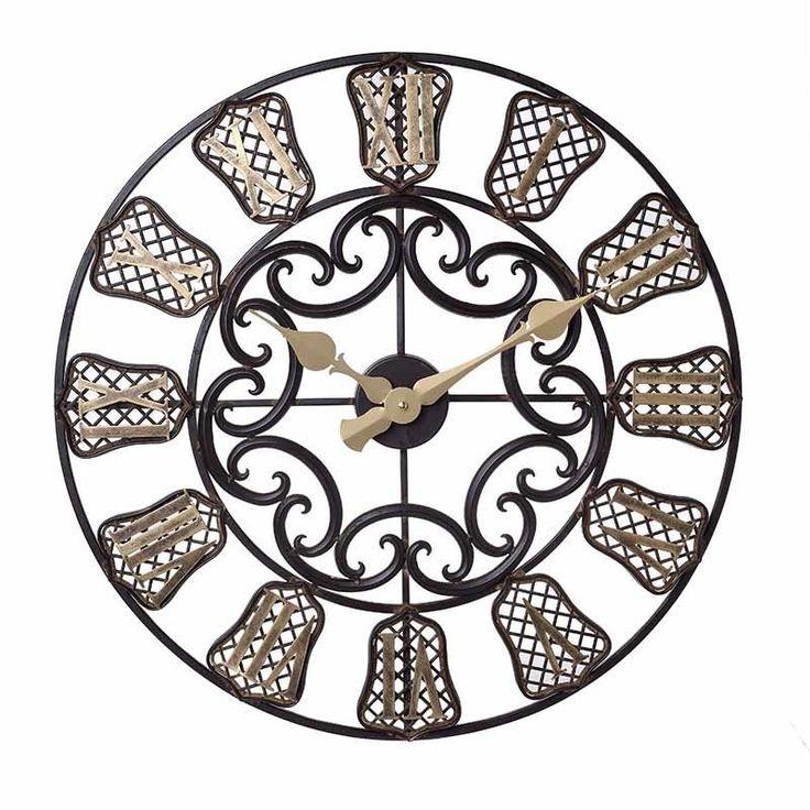 Ρολόι Τοίχου Μεταλλικό Καφέ-Χρυσό INART 60εκ http://www.lovedeco.gr/p.Roloi-Toichou-Metalliko-Kafe-CHryso-INART-60ek.910219.html