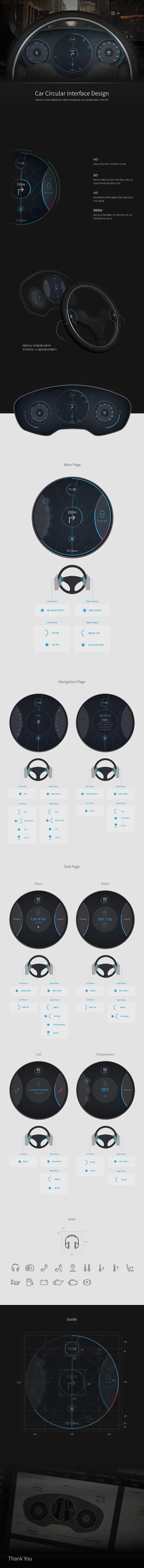 Car Circular Interface Design