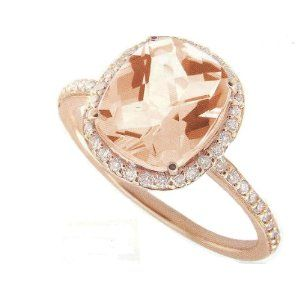 rose gold and morganite. this is what i want my ring to be. this exact one. it's romantic and perfect.