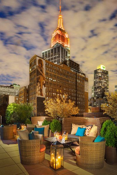 Eventi Hotel in NYC - Perfect outdoor cocktail party location.