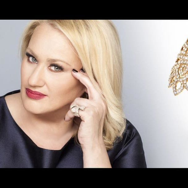"The Astrology Queen Asi Biliou (Αση Μπηλιου) looks fabulous wearing our designs for the main cover 2016 of her TV-Show ""Stars system"" on Alpha TV! Althea by Pearls Center 18K with Diamonds & Pink Sapphires!  #pearlscenter #jewellery #jewelry #athens #starssystem #alphatv #greece #tvshow #diamonds #pinksaphires #fashion #unigue #producers #cyprus #italcatena"