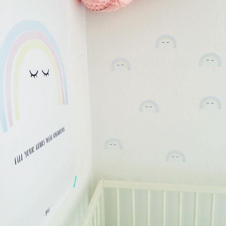 muurstickers pastel regenbogen #rainbows #wallstickers #meisjeskamer
