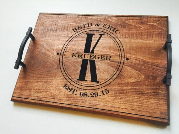 50th Wedding Anniversary Personalized Serving Tray