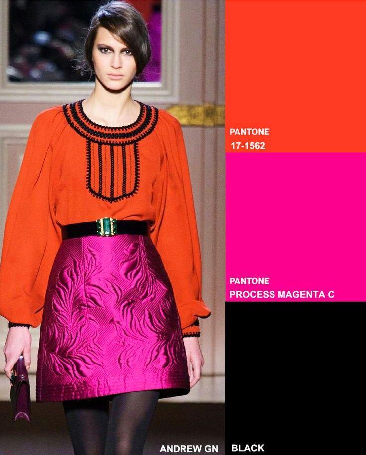 2015 fashion forecast  Key Colour Combos Fall 2014 Winter 2015