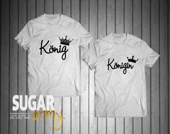 König Königin t shirts, königin tshirt, pärchen tshirts, Pärchen-T-shirt, Shirts für Paare, zusammenpassende Hemden für Paare, Paare Shirt