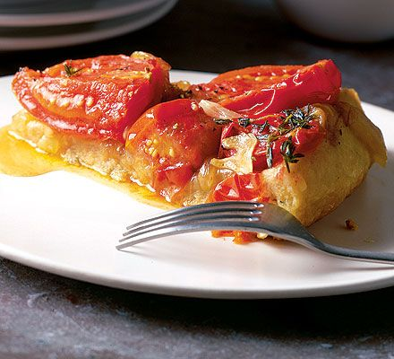 A vegetarian and savoury version of tart tatin - perfect for a light supper