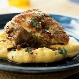 Chicken with balsamic vinegar pan sauce: Sauces Recipe, Healthy Chicken Recipe, Chicken Breasts, Balsamic Vinegar, Sauté Chicken, Balsamic Chicken, Pan Sauces, Vinegar Pan, Recipe Chicken