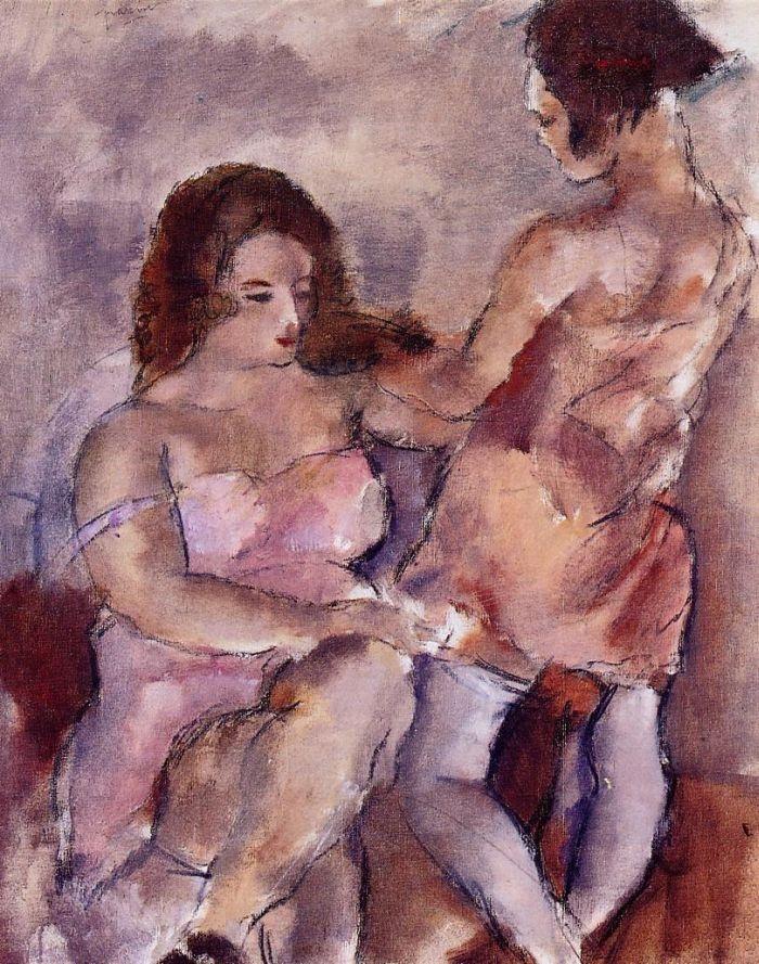 Two Young Women by Jules Pascin #art