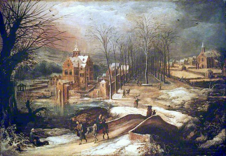 Joos de Momper (II) – The Ashmolean Museum A407 (WA1931.16). Wintry Landscape with the Flight into Egypt (first third of the 17th c.?)