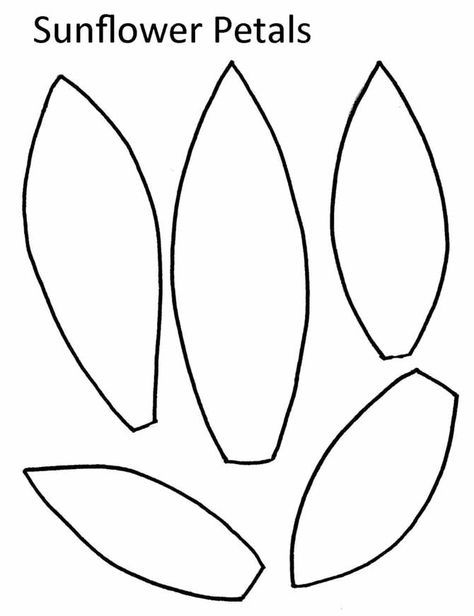 sunflower outline printable giant paper sunflower templates