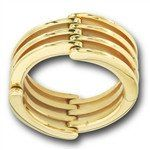 #5353 Stainless Steel Hinged Gold IP, Movable Ring