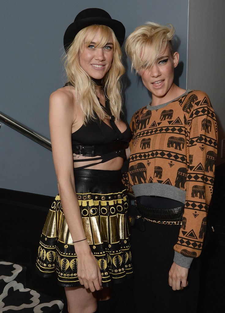 Olivia Nervo in 'Yves Saint Laurent' Screening Afterparty! Wearing our Parade cropped fleece!