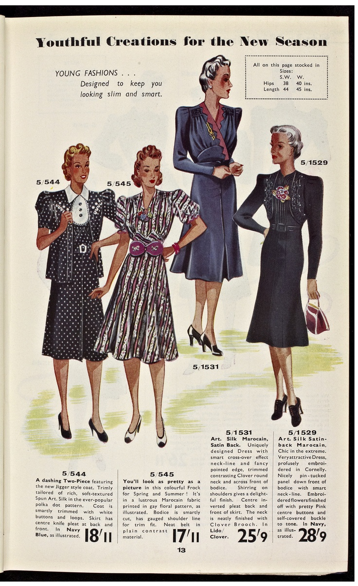 Vintage clothes fashion ads of the 1940s page 22 - They Are Still Pretty And Feminine Yet Are A Little Older Looking