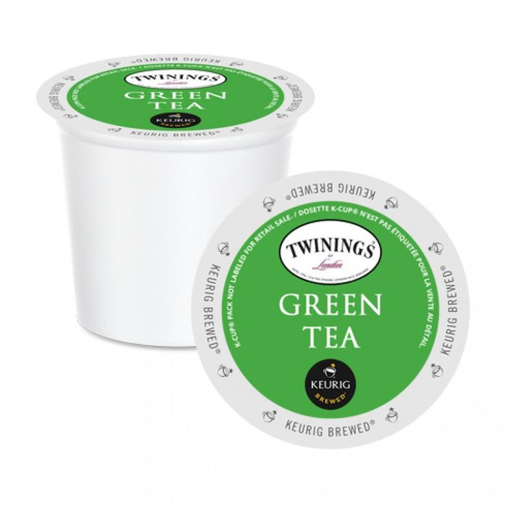Twinings Green Tea K-Cup® Pods 24 Pack | Pure green tea with a fresh taste. Try it over ice on a 4-oz setting for a refreshing summer iced tea! #twinings #keurig #kcup #tea