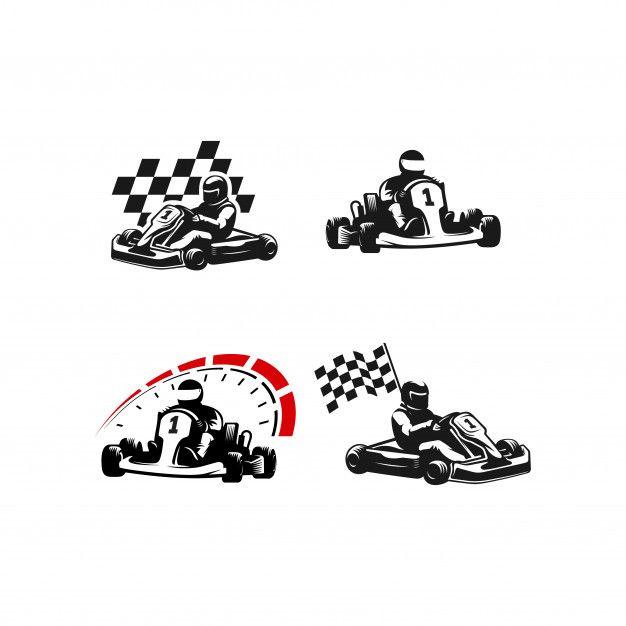 Go Kart Silhouette Logo Set Premium Vect Premium Vector Freepik Vector Logo Car Sport Cartoon Logo Set Go Kart Vector Logo Design