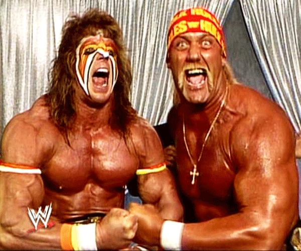 The Ultimate Warrior and Hulk Hogan. My stepdad watched wrestling back when it was the WWF and these two always stick out in my mind.