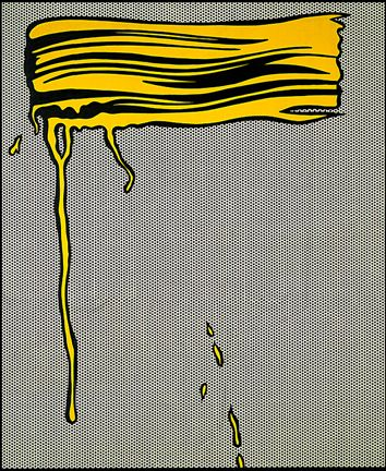 Roy Lichtenstein . yellow brushstroke I, 1965