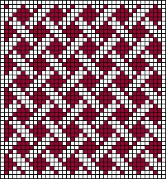 Minimal Cane Work Stitch Chart