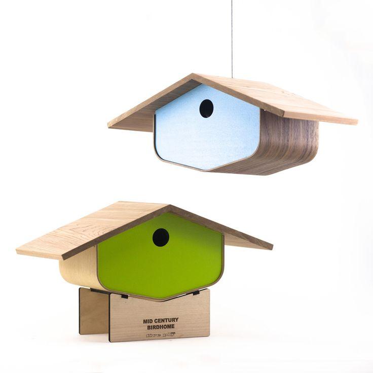 Midcentury Modern Birdhouse from Five Ply Studios