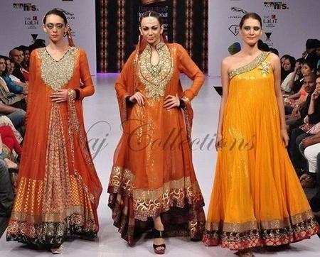 Latest Pakistani Mehndi Dresses Trends For 2013 | Pakistani Fashion Magazine