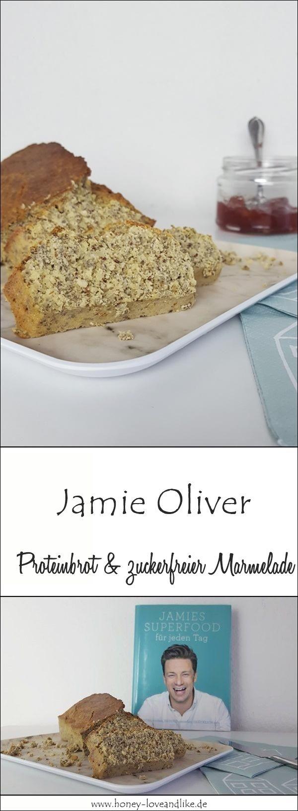 So einfach machst du Jamie Oliver Proteinbrot und meine zuckerfreie Marmelade #lowcarb #zuckerfrei