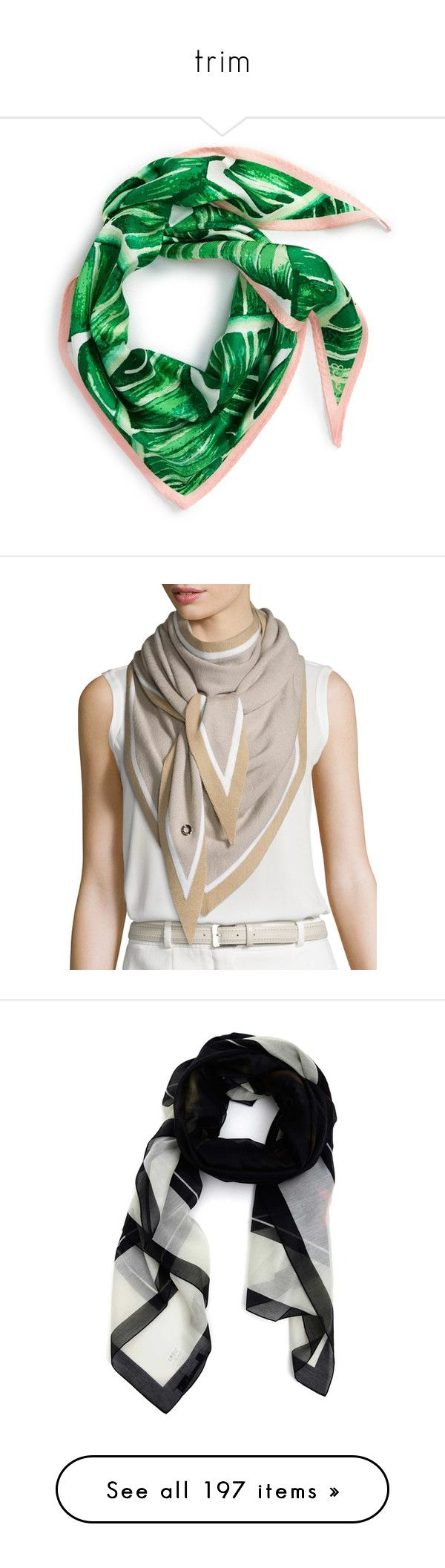 """""""trim"""" by yueji ❤ liked on Polyvore featuring accessories, scarves, leaf green, echo scarves, silk shawl, green silk scarves, green shawl, silk scarves, tie summer scarves and summer scarves"""