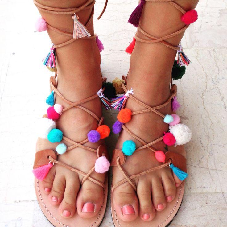 Handmade boho sandals