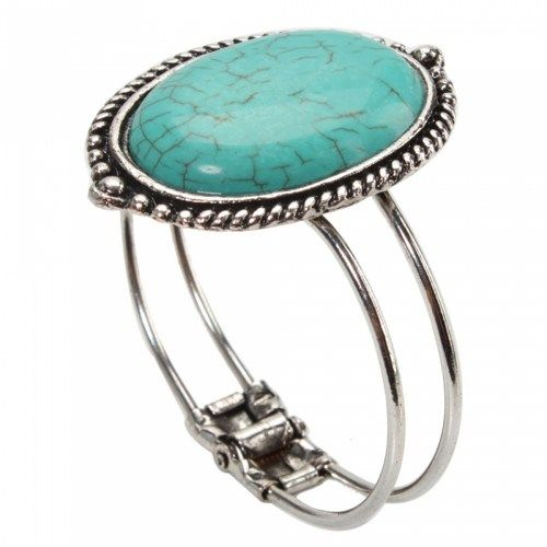 Oval Turquoise Bracelet 03 | favwish - Jewelry on ArtFire