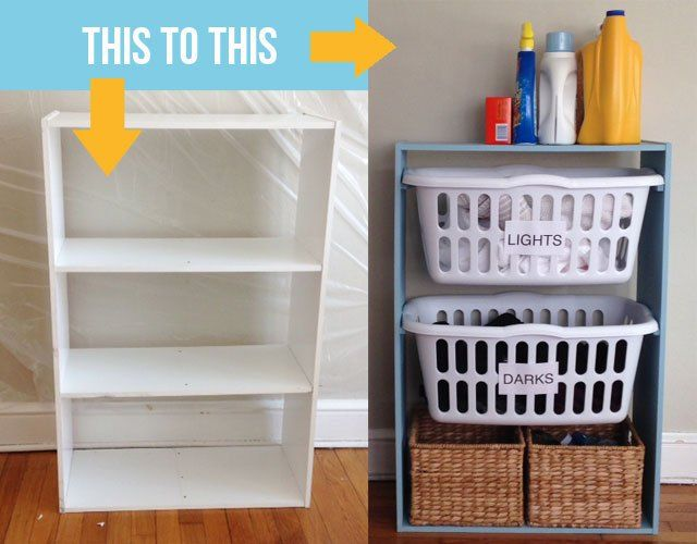 After seeing this laundry room idea, I will never look at an empty bookshelf the same way again