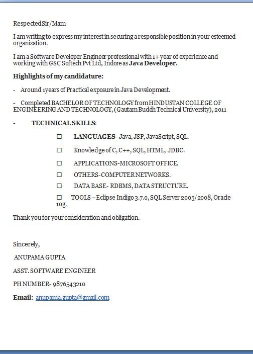 Good Cover Letter Examples Excellent Professional Job Application   Software  Developer Cover Letter  Software Developer Cover Letter